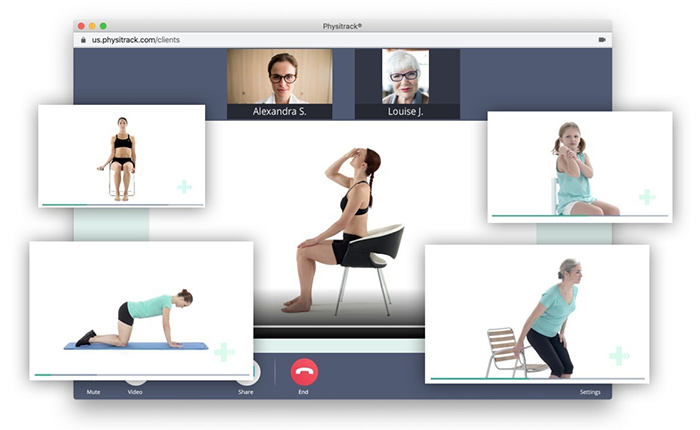 video calling physio consult goed amsterdam physiytrack