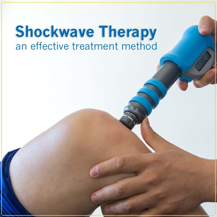 physical therapy of the knee with shockwave
